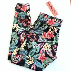 MINKPINK Move Floral Tropical Leggings Small NWT